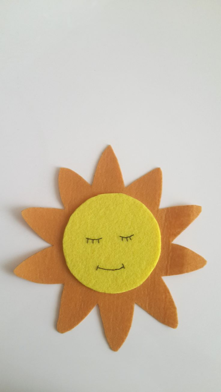 Bir bütünü tamamlayacak parçalardan biri.  Uykucu Güneş Hanım :)  güneş, sun, keçe