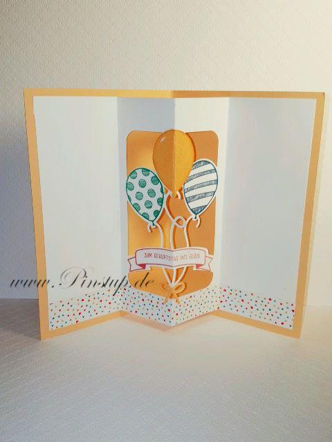 Mit dem Stempelset Party Balloons von Stampin Up ist es ein Kinderspiel eine tolle Grußkarte zu erstellen