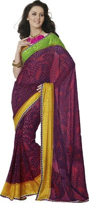 Aparnaa Printed Embroidered Embellished Georgette Sari - Buy Maroon Aparnaa Printed Embroidered Embellished Georgette Sari Online at Best Prices in India | Flipkart.com  MRP: Rs. 4,108 Rs. 1,848 55% OFF Selling Price (Free delivery)