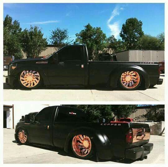 Dually on copper wheels