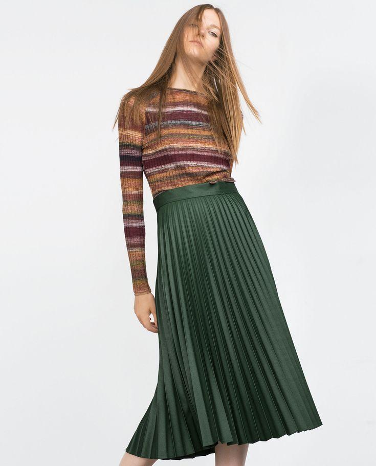 Image 2 of ACCORDION PLEAT SKIRT from Zara