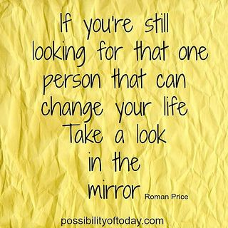 Look in the mirror .....