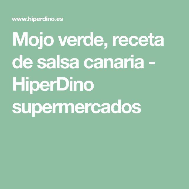Mojo verde, receta de salsa canaria - HiperDino supermercados