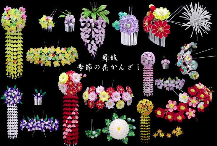 kanzashi kanzashi o adornos en el pelo los tradicionales