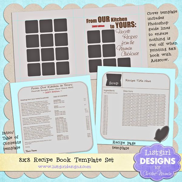 wonderful free recipe book template by christine newman of listgirl