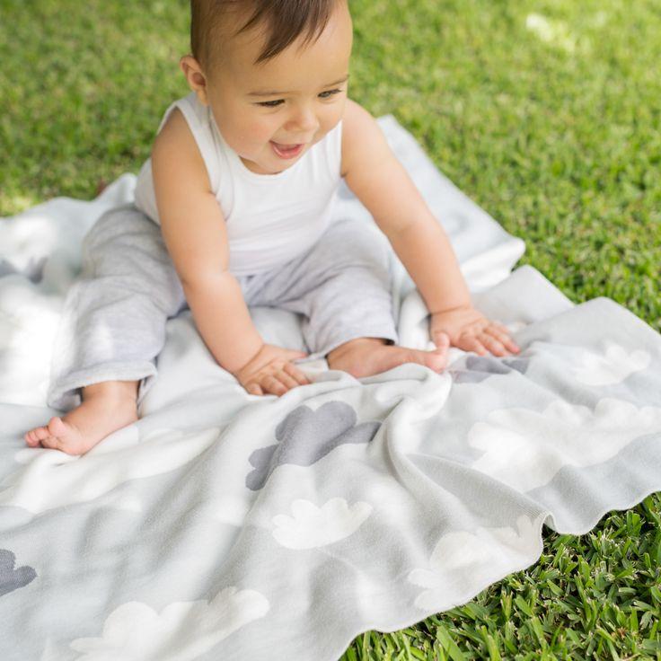 Weegoamigo Cotton Blanket - Sky High Silver