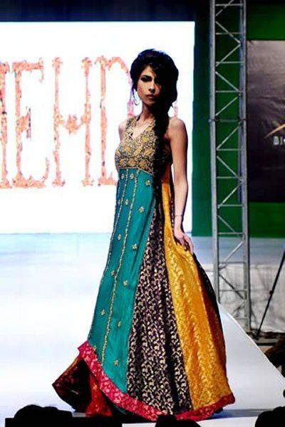 Fashion Of Multi Color Party Dresses 2014 For Pakistani Women 002