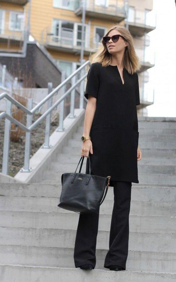 Черные брюки-клеш: 11 стильных образов 8