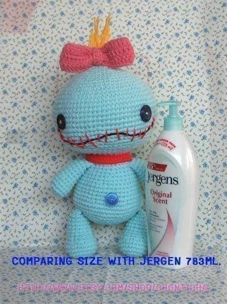 Amigurumi Baby Monsters : SCRUMP 12.5 inches - PDF amigurumi crochet pattern ...