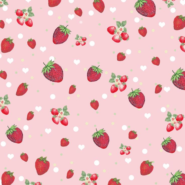 Free Digital Scrapbook Paper - Retro Kitschy Strawberry Collage Print **FREE ViNTaGE DiGiTaL STaMPS**