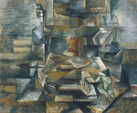 Georges Braque Bottle and Fishes circa 1910-2 oil on canvas 61 x 75cms