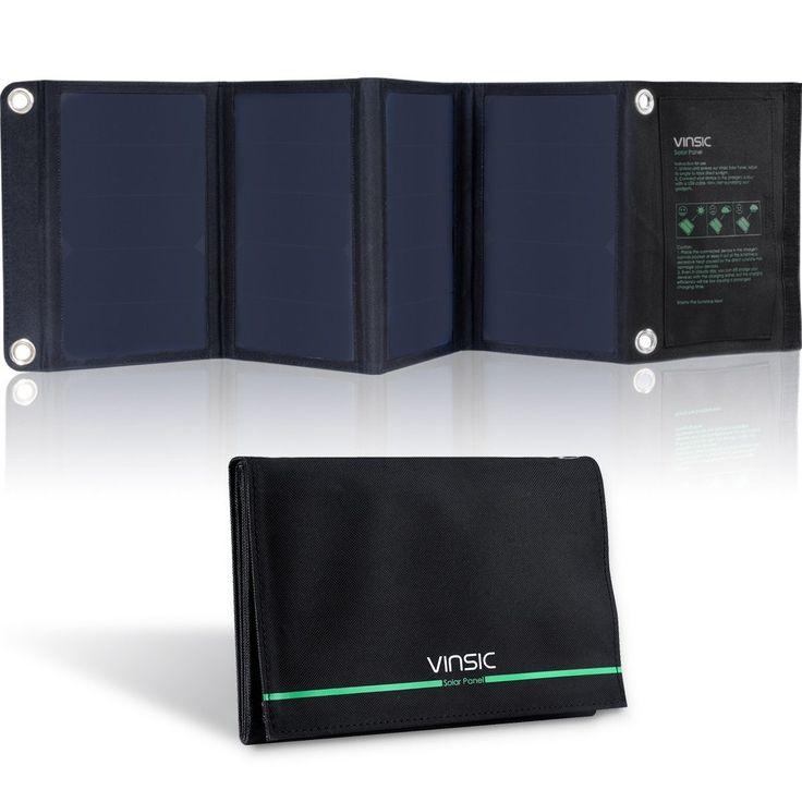 22-Watt Folding Solar Panel Battery Charger USB iPhones Tablets GPS Camera