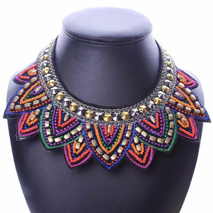 Necklace : Bohemia Handmade Bead Statement Necklace