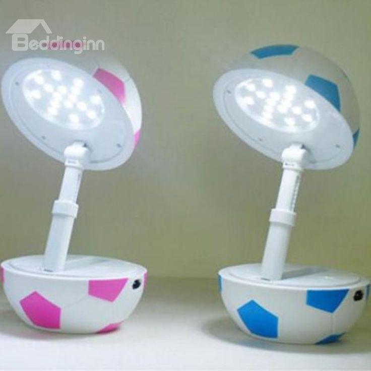 Amazing Creative Football Shape Folding Charging LED Table Lamp