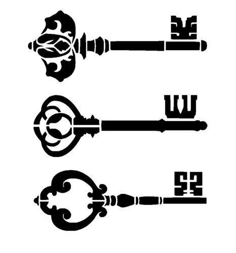 vintage keys stencil 1