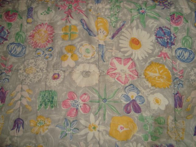 Retro Danish quilt from the 60s. #trendyenser #retro #danish #quilt #1960 #dansk #vattæppe. SOLGT.
