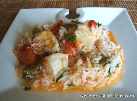 Arroz de Tamboril à Pescador Portugal Receitas culinárias de Portugal, pratos, cozinha tradicional de Portugal, gastronomia de Portugal