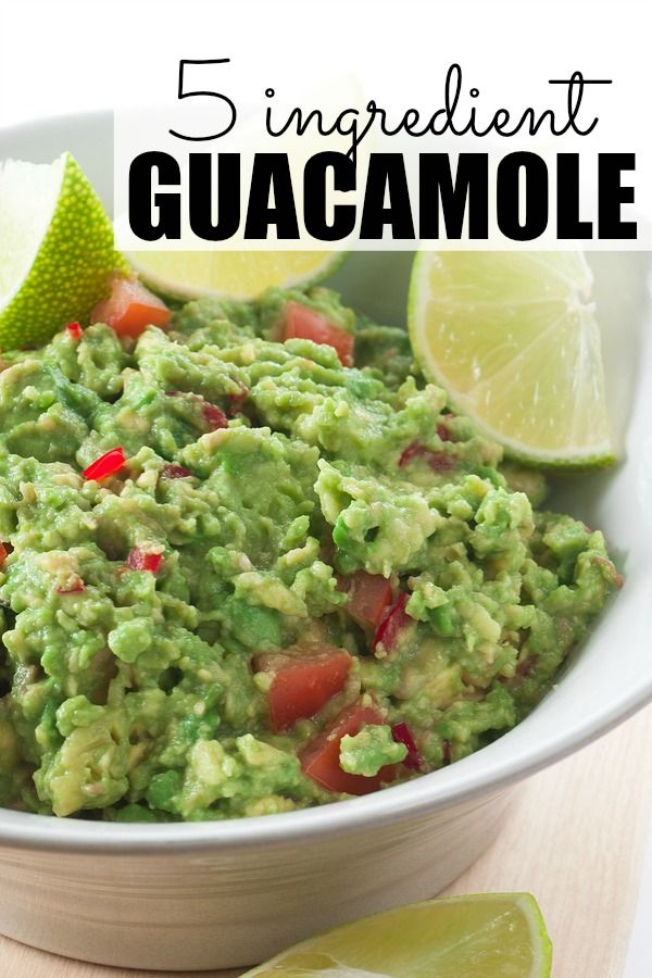 If you're on the hunt for easy appetizers that will taste good and keep your guests coming back for more, this 5-ingredient guacamole recipe is for you!