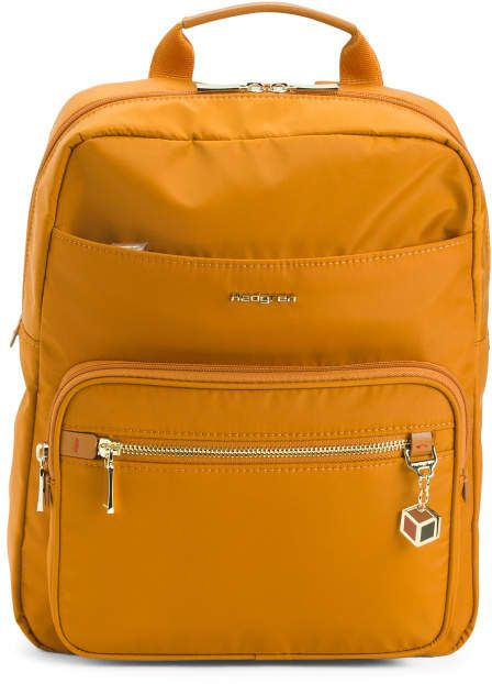 Nylon Backpack With Multi Pockets
