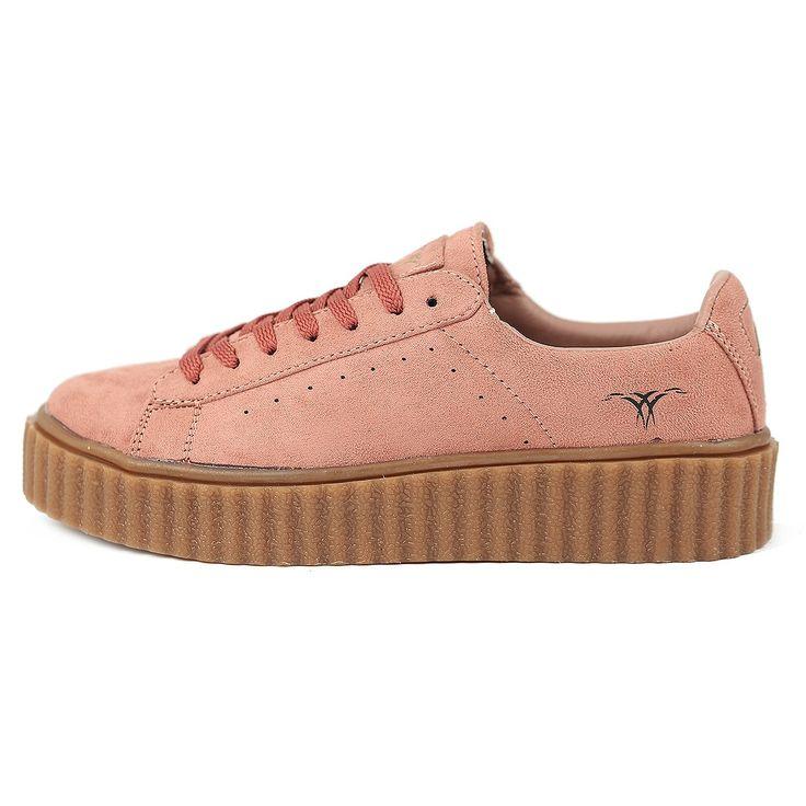SKUTARI Damen - Plateau Low Sneakers Wildleder Schuhe – Bild 1