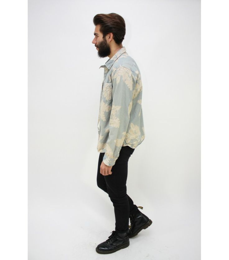 AllSaints Denim Shirt, XL - WST