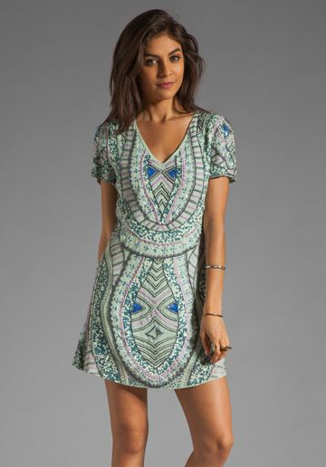 Antik Batik Hampton V Dress in Aqua