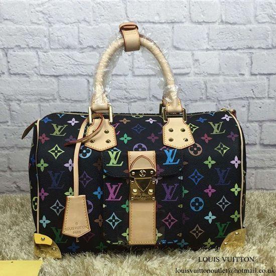 728f66d66c17 Louis Vuitton M92642 Speedy 30 Tote Bag Monogram Multicolore Canvas   Louisvuittonhandbags