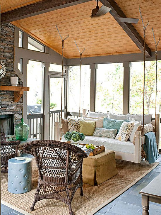 20 Best Elegantly Furnished Screened In Porch Images On