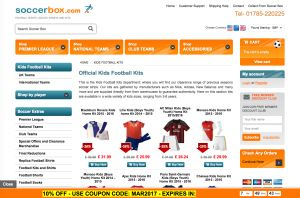 With over 17 years' experience providing high quality replica football shirts, kits, jerseys and more, the expert team at Soccerbox take pride in providing the best possible service to customers throughout the UK and abroad. Soccerbox only provides official licensed football merchandise from top manufacturers including Nike, Adidas, Puma and much more in order to provide the best possible football kits for you.