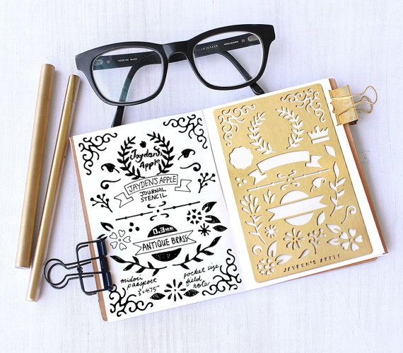 A stencil that makes it easier to add doodles and dividers. | 19 Products That Will Enable Your Bullet Journaling Habit In 2017