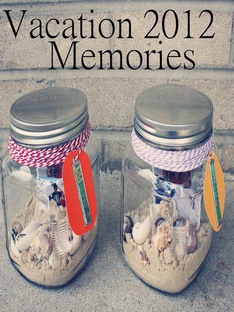 Create a memory jar. | 20 Non-Scrapbook Ways To Remember Your Vacation Forever