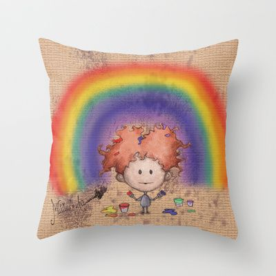 Matita's Art Throw Pillow