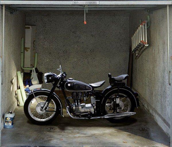 Decorating Amazing Classic Motorcycle Garage Door Decals