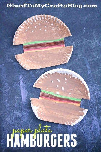 Paper Plate Hamburgers - Kid Craft Idea