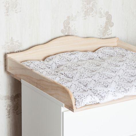 """*Handgefertigter Wickelaufsatz, Wickeltischaufsatz """"Wolke 7"""" aus Naturholz für alle IKEA Hemnes-Kommoden mit einer Tiefe von 49-51cm.* (auch für das große Modell)  Das neue geschwungene Kopfbrett..."""