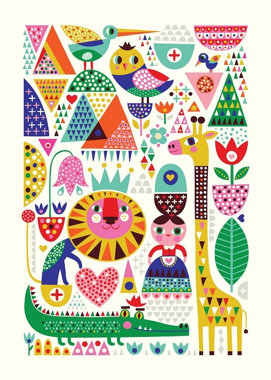 New print by Helen Dardik -Scandinavian Zoo-
