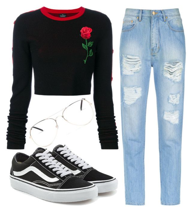 """Boyfriend Jeans"" by liaperezmorales on Polyvore featuring Amapô, County Of Milan, Vans and Armitage Avenue"