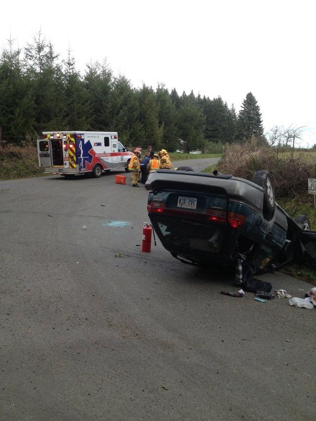 Crash severs power pole, sends three to hospital