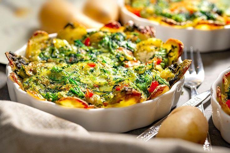 Vegetarische Kartoffeltorte mit offenem Gesicht   – Italian