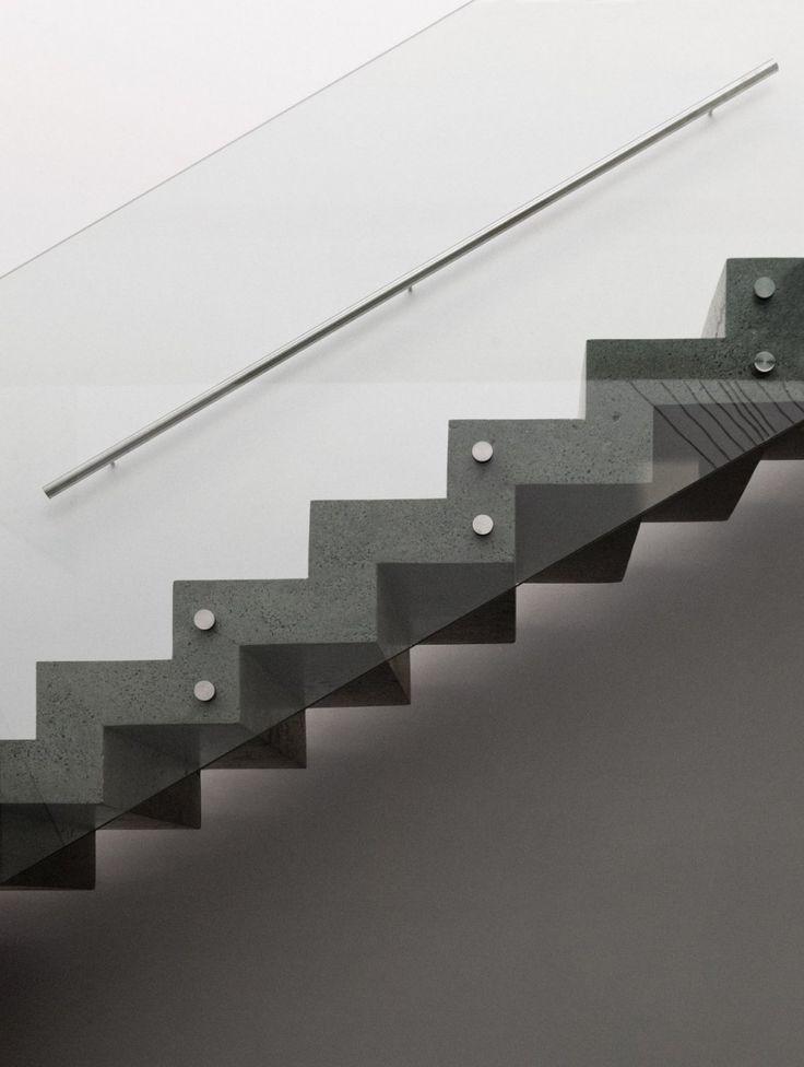 ♂ Modern minimalist interior design staircase Casa Luz by Paz Arquitectura