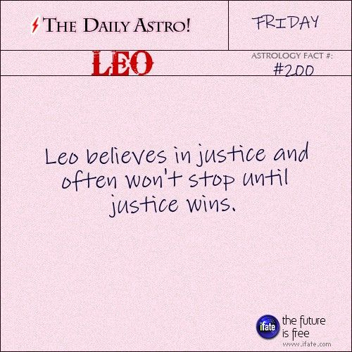 """The Daily Astro!"" Leo astrology-fact for Friday January 20th"