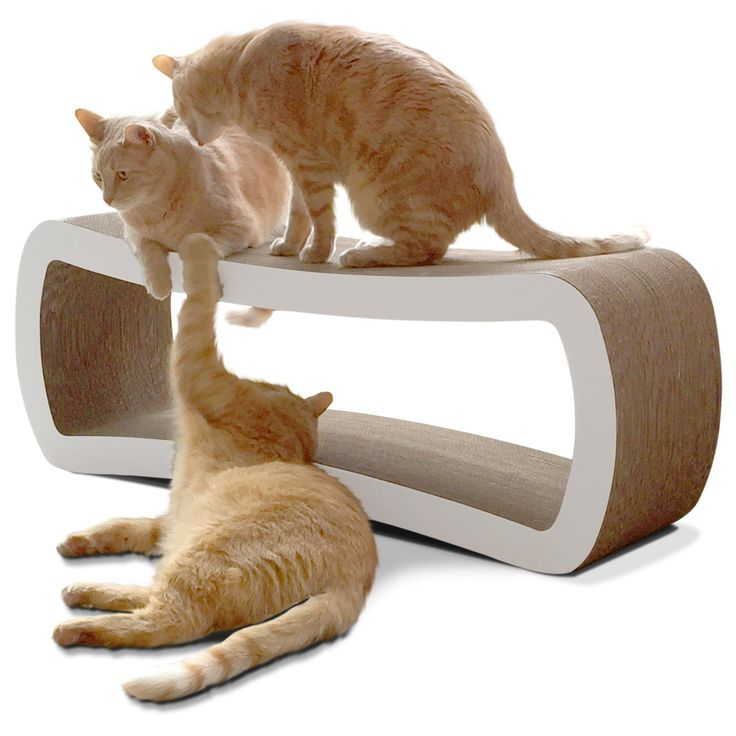 Jumbo Reversible Cat Scratch Lounge Bed For Multiple Cats (99x28x36 CM).
