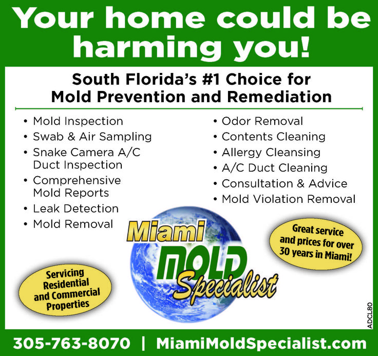 Check out one of our other new #MIamiBeach #magazine #ads with a little more information pertaining to our high tech #moldinspection, #moldtesting, and #moldremoval services in #Miami, #FL. 1-305-763-8070 http://www.miamimoldspecialist.com #MiamiBeach #SouthBeach #NorthMiamiBeach #BalHarbor #StarIsland #SoBe #DodgeIsland #VenetianIslands #Bayshore #Midbeach #NorthBeach #Surfside #SunnyIslesBeach #NorthBayVillage #BayHarborIslands #EasternShores #GoldenBeach #Wynwood #UpperEastSide…