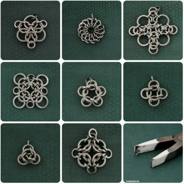 Chainmaille - starting 'rounds' for pendants, the start of helms, or for use in tunics and skirts