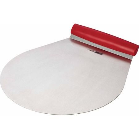 "Cake Boss Stainless Steel Tools and Gadgets 9"" Cake Lifter, Red"