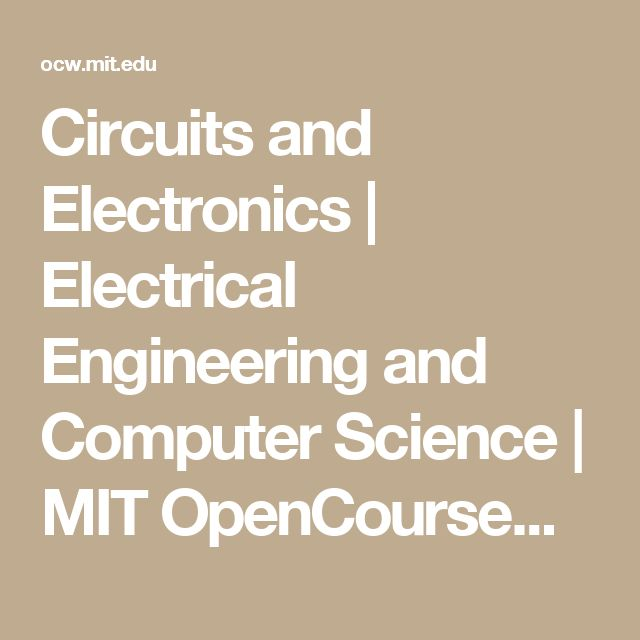 12 best programming practice images on pinterest coding computer circuits and electronics electrical engineering and computer science mit opencourseware fandeluxe Images