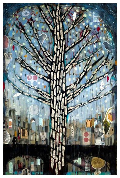 Arbol Con Luces 2 - Judy Paul - Print on canvas