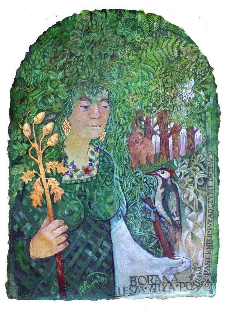 Bogini Lesza-Borana. Należy do Tynu Wiłów-Borowiłów. Copyright © by Czesław Białczyński, all rights reserved ® by Jerzy Przybył Bogowie Słowian