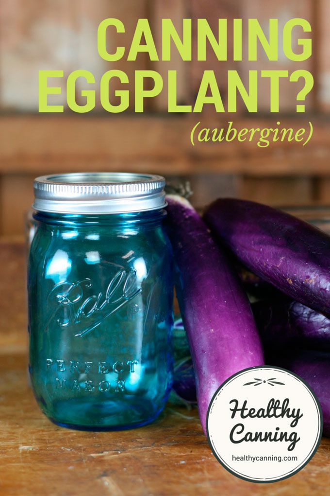 Canning Eggplant. There are currently no tested directions for pressure canning plain eggplant (aka aubergine) either on its own by itself or as an ingredient in a pressure-canned mixture. But there are several tested pickled products in which it can be used. #canning