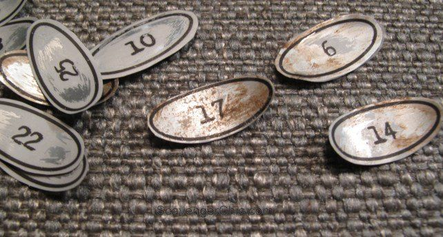Do you need vintage metal numbers for your DIY project.  Can't find them or when you do find them the prices are ridiculous?Would you believe these numbers ar…
